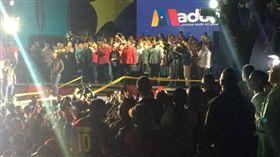 馬杜洛(Nicolas Maduro)連任委國總統,選舉結果受到各國譴責、制裁。(圖/翻攝Twitter)
