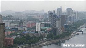 ▲從飯店鳥瞰平壤。(圖/記者林辰彥攝影)