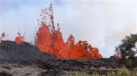 夏威夷,火山,噴山,裂縫,熔岩