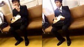 影/人生好難…上班族邊吃邊落淚 10秒影片讓網友心揪了 圖/翻攝自騰訊