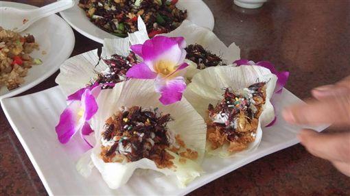 業者把「荔枝椿象」入菜,做出各式料理,民眾大讚香味無法言喻。(圖/翻攝臉書)