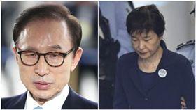 前南韓總統李明博、朴槿惠,合成圖/美聯社/達志影像