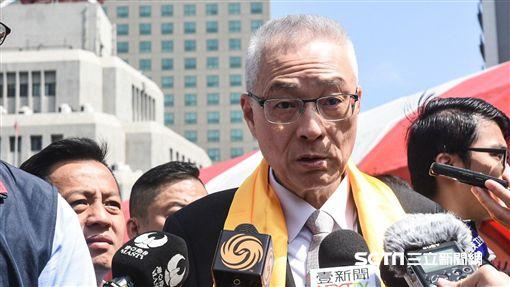 國民黨主席吳敦義出席黃帝祭拜大典。 圖/記者林敬旻攝