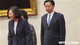 總統蔡英文,外交部長吳釗燮。(圖/記者盧素梅攝)