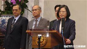 總統蔡英文,陸委會主委陳明通。(圖/記者盧素梅攝)