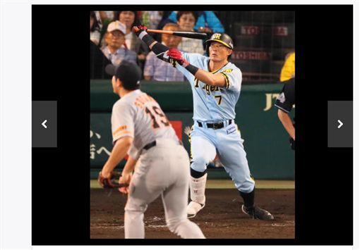 ▲阪神虎打者糸井嘉男擊出生涯150轟。(圖/截自日本媒體)