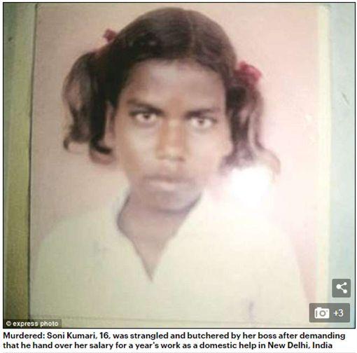 16歲少女討薪水不成遭仲介狠心殺害分屍12塊。(圖/翻攝Daily Mail)