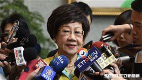 民進黨前副總統呂秀蓮今受訪表示,若當選台北市長,一定會推動「和平首都聯盟」結交所有愛好和平的國際首都。(圖/記者林惟崧)