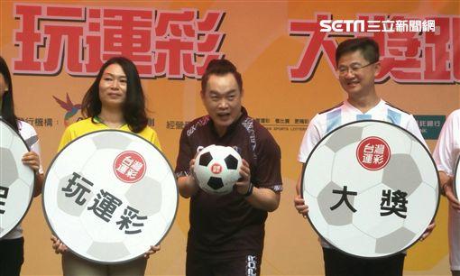 ▲康康參加台灣運彩世足賽推廣活動。(圖/記者林辰彥攝影)