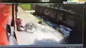 單車,貨車,產業道路,車禍,彰化(翻攝畫面)