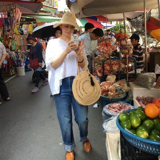 ▲石田百合子特地一早去逛雙連市場。(圖/翻攝自IG)