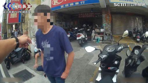 毒蟲拒檢將吸食器丟出車外 超硬派員警破窗逮人