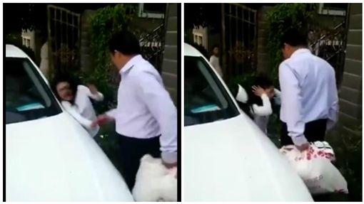 大陸上海一名女童遭父親暴打(圖/翻攝自秒拍)