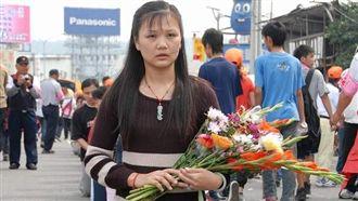 白沙屯媽祖進香 關於獻花與「換花」