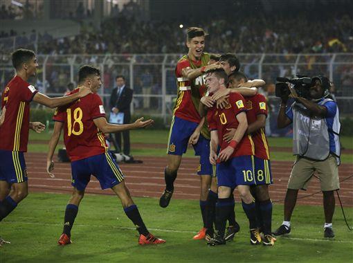 西班牙是本屆世界盃奪冠熱門隊伍之一。 (圖/達志影像)