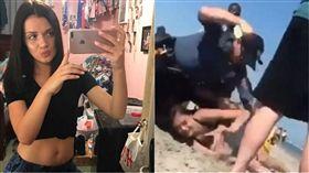 美國,New Jersey,Wildwood beach,海灘,毆打,警員,警察,執法過當,Emily Weinman,飲酒,酒 圖/翻攝自臉書、推特 https://goo.gl/U9p9AR