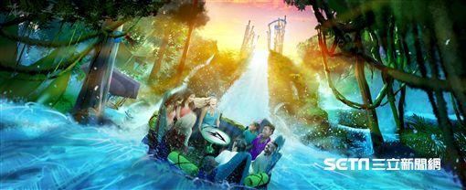 無限墜落設施, Infinity Falls, 急流泛舟。(圖/奧蘭多海洋公園提供)