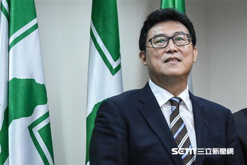 獲民進黨提名參選台北市長,姚文智出面說明。 (圖/記者林敬旻攝)