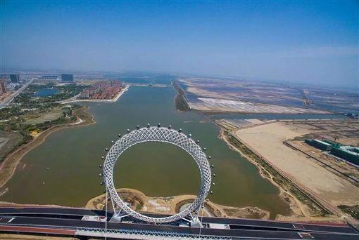 世界最大無軸式摩天輪,渤海之眼,山東濰坊。(圖/翻攝自微信)