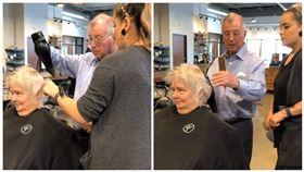 「讓妳每天都美!」老翁為中風妻學吹髮 她見新髮型笑了 圖/翻攝自臉書