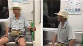電車有位不坐要別人讓 阿伯:看到我就該讓(圖/翻攝自澎湃新聞)
