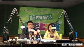 民進黨台北市參選人姚文智今(1日)接受廣播節目專訪。(圖/姚文智辦公室提供)