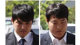 ▲NEXEN英雄選手朴東原(左)與曹尚佑被指控性侵。(圖/截自韓國媒體)