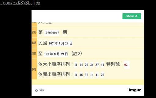 大樂透全差一號/PTT