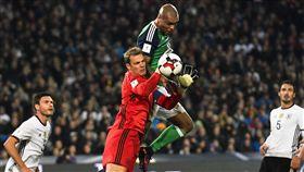 德國世界盃添利多,頭號門將諾伊爾熱身賽復出。(圖/美聯社/達志影像)