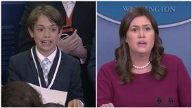 男童憂「在學校被槍殺」 白宮女發言人哽咽:我很抱歉 美國白宮發言人桑德斯,圖/翻攝自The White House YouTube