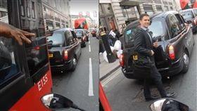 巴士,公車,示警,機車,行人,英國,LADbible,街道,禮讓,車禍,相撞,提醒 圖/翻攝自臉書 https://goo.gl/Zfgdxk