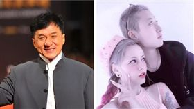 成龍,吳卓林與女友Adni。(翻攝微博、IG)