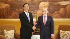 朱立倫與大陸國台辦主任劉結一會面 新北市府提供