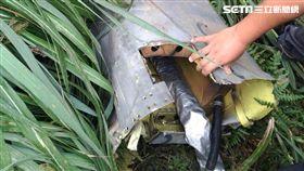 漢光演習一架F-16在基隆附近空域失聯,在瑞芳山區發現疑似殘骸。(圖/國搜中心提供)