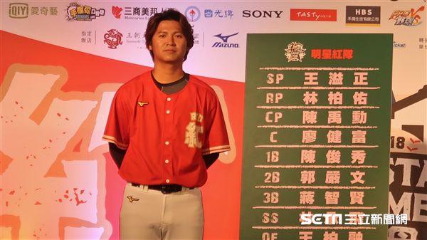 陳禹勳獲選紅隊人氣王。(圖/記者王怡翔攝)