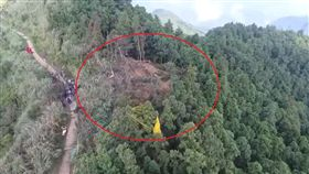 飛官,吳彥霆,F-16,五分山,撞擊點,基隆(翻攝畫面)