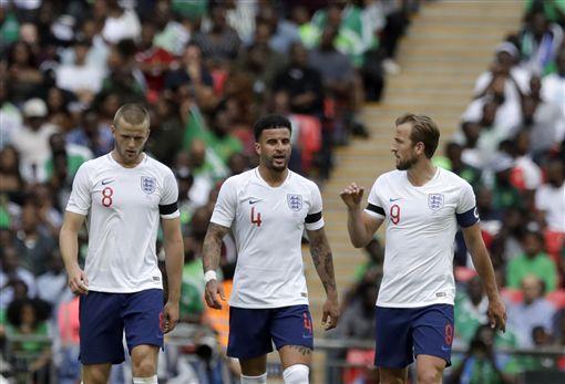 最菜英格蘭世界盃代表隊,熱身賽2:1勝奈及利亞。(圖/美聯社/達志影像)