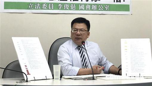 民進黨立委李俊俋今召開記者會,痛批監察院違法濫權。(圖/記者林惟崧攝)
