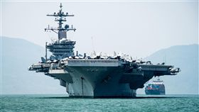 美航空母艦卡爾文森號訪越南美軍航艦卡爾文森號駛入並停泊在越南中部大城峴港外海,別具特殊意義。(取自美軍太平洋司令部官網)中央社記者曹宇帆洛杉磯傳真 107年3月9日