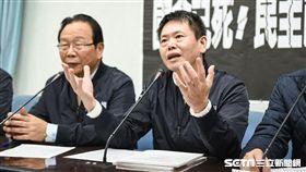 國民黨團召開獨裁蔡政府,民主已死記者會,立委林為洲 圖/記者林敬旻攝