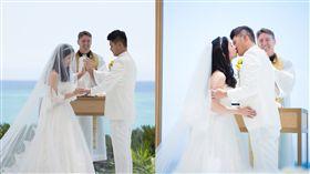 曾玄玄,沖繩,結婚,海邊,婚禮(曾玄玄提供)