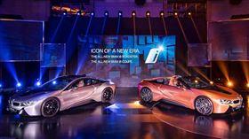 BMW i8 Coupe與i8 Roadster。(圖/BMW提供)