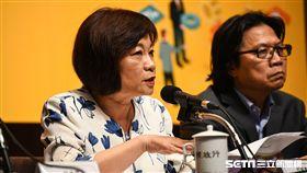 國發會主委陳美伶出席「 新經濟移民法規劃重點記者會」。 (圖/記者林敬旻攝)