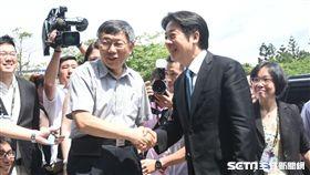台北市長柯文哲、行政院長賴清德出席innovex開幕典禮。 (圖/記者林敬旻攝)