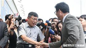 台北市長柯文哲,立委姚文智出席innovex開幕典禮。 (圖/記者林敬旻攝)