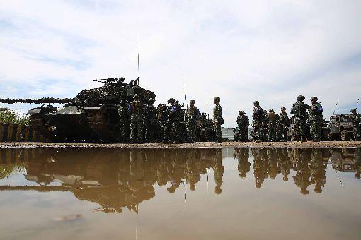 漢光演習 CM11戰車待命砲擊「北部反登陸作戰」操演課目6日在新竹湖口基地實施,CM11戰車待命,準備進行砲擊。(軍聞社提供)中央社記者游凱翔傳真 107年6月6日 ID-1390748