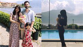 艾莉絲與老公馬培迪跟一雙兒女。(圖翻攝自臉書)