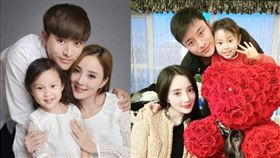 李小璐跟老公賈乃亮,女兒甜馨。(翻攝微博)