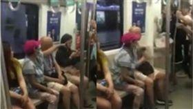 癡漢摸大腿被抓包 妻子竟護航「碰一下怎麼了?」 圖/翻攝自鳳凰網視頻