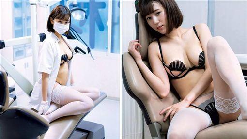 日本一名正妹潔牙師「西原愛夏」相當火辣,她曾在診間拍性感內衣寫真照,標致的臉蛋、豐滿的上圍擄獲粉絲的心。不少網友看到後,紛紛直喊「太犯規」,甚至還有網友搞笑地說「我智齒好像又長出來!」(圖/翻攝自PTT)